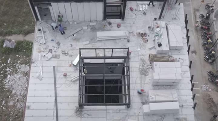 Công trình lắp ghép bằng tấm bê tông nhẹ ALC Viglacera