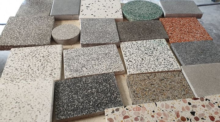 Các mẫu gạch đá mài