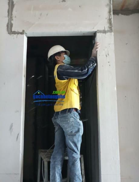 Hoàn thiện tường lắp ghép tấm panel bê tông nhẹ tại Đà Nẵng