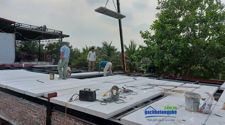Sàn bê tông nhẹ lắp ghép tấm panel ALC