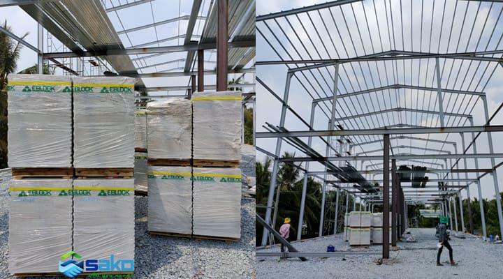 Nhà lắp ghép bằng tấm panel AAC bê tông khí chưng áp tại TPHCM