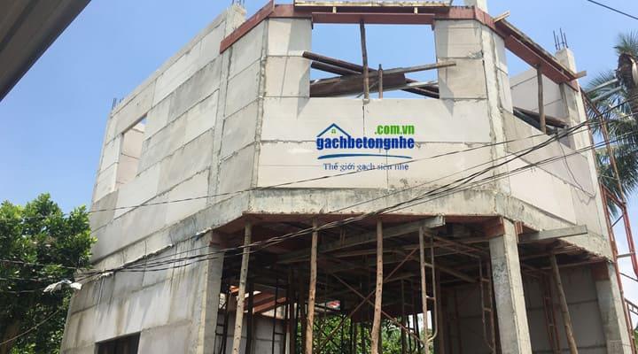Tấm tường bê tông nhẹ đúc sẵn xây nhà tại Nha Trang