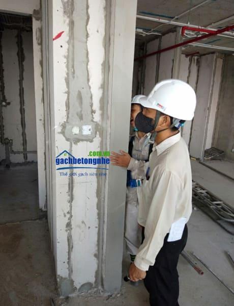 Thi công điện nước tường lắp ghép tấm panel bê tông đúc sẵn ở Đà Nẵng