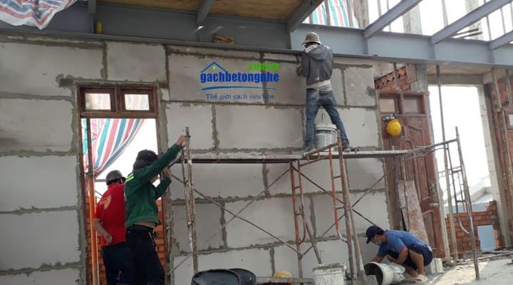 Thi công tấm bê tông đúc sẵn ALC lắp ghép tại Nha Trang