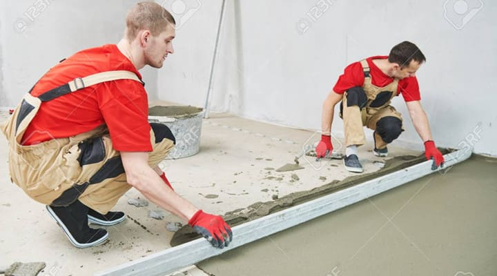 Thi công cán nền nhà bằng vữa trộn sẵn