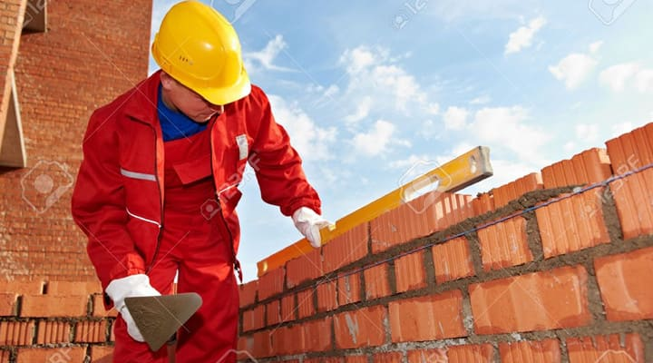 Vữa trộn sẵn xây tường gạch đỏ nhanh và tiện lợi