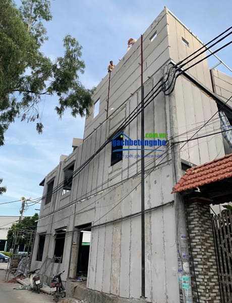 Xây nhà bằng tấm bê tông nhẹ tại Đà Nẵng